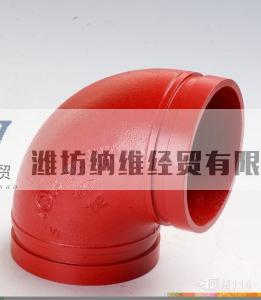 supply ductile iron 90 degree grooved elbow factory in China