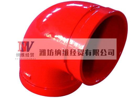 supply ductile iron 90 degree grooved fitting elbow factory in China