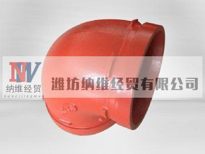 clamp elbow, grooved fitting elbow factory with FM, UL