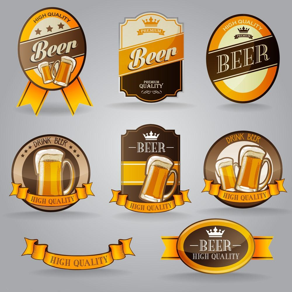China OEM many kinds of beer label paper