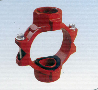China manufacturer ductile iron threaded mechanical cross