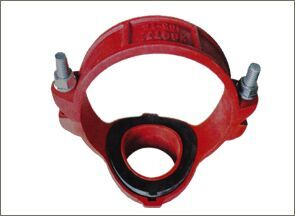 Ductile iron grooved coupling and fitting/mechanical tee