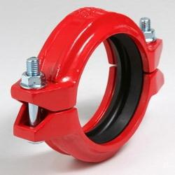 FM/UL approved ductile iron grooved couplings and grooved fittings