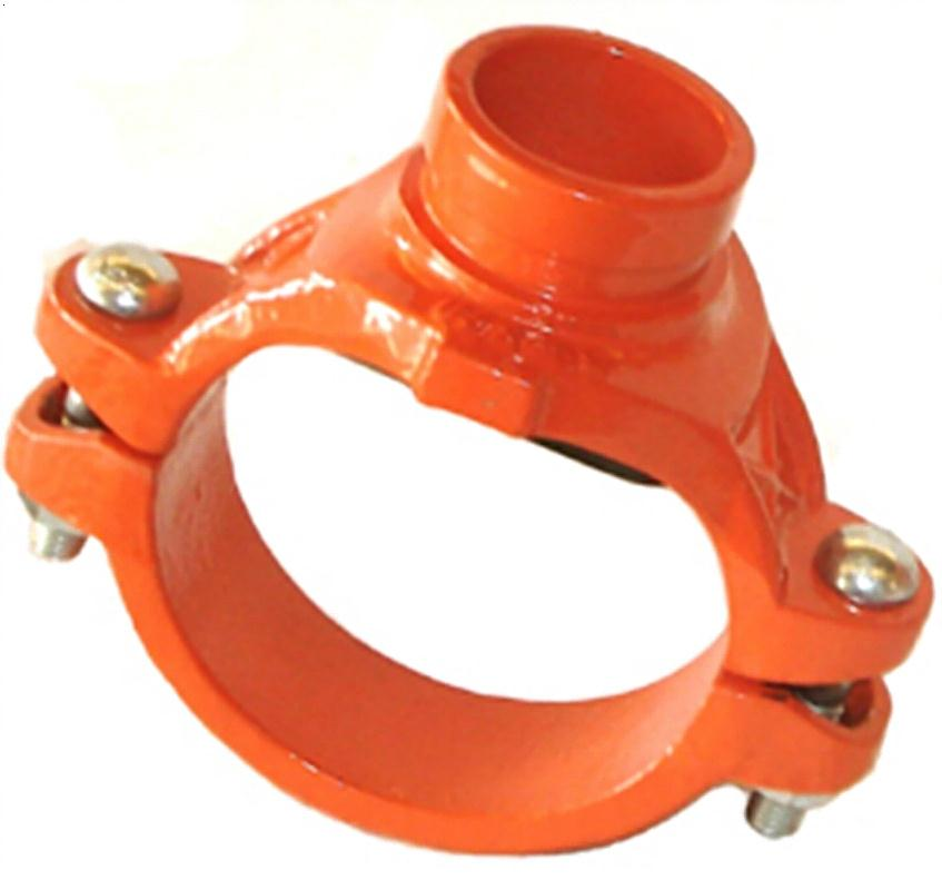FM/UL approved ductile iron grooved couplings mechanical tee