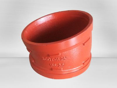 FM / UL approved 3 grooved pipe fittings elbow