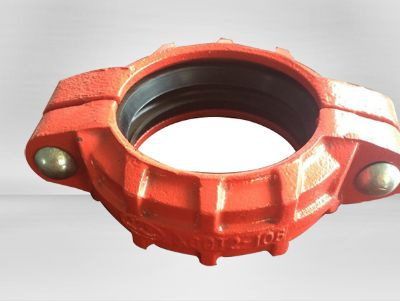 Ductile iron grooved pipe rigid coupling/flexible coupling